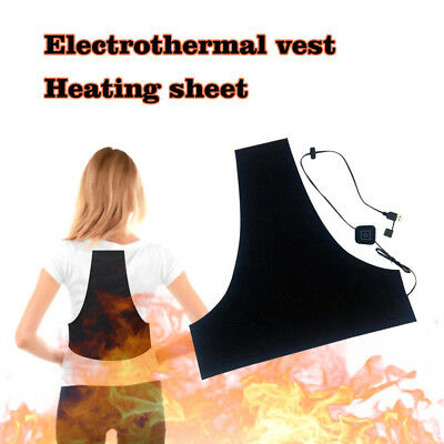 Washable USB Electric Heating Pad 3 Gear Adjustable Thermal Clothes Outdoor _A