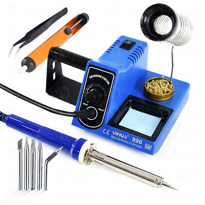 60w Rework Soldering Station Iron Kit Variable Temperature Solder Repair Tool Us