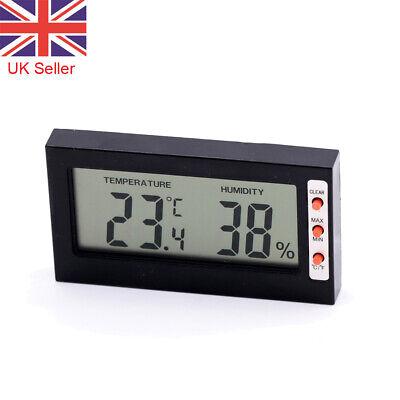 LCD Digital Temperature Hygrometer Humidity Meter Gauge For Cars Home Office UK