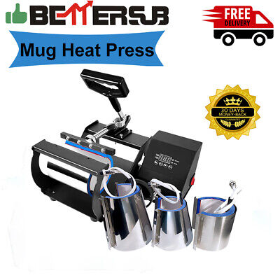 Combo 4in Mug Heat Press Transfer Sublimation Machine Digital For Cup Coffee