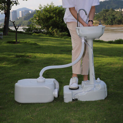 Portable Hand Washing Sink Faucet Station W 24l Recovery Tank Outdoor Activity
