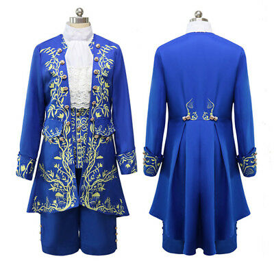 New 2017 Prince Adam Costume Beauty And The Beast Cosplay Adult Fancy - 2017 Halloween Costumes Mens