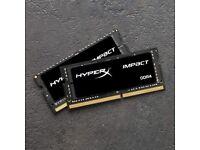 HyperX Impact DDR4 32GB Memory 2666 MHz CL15 SODIMM 32 GB Kit (2x16 GB