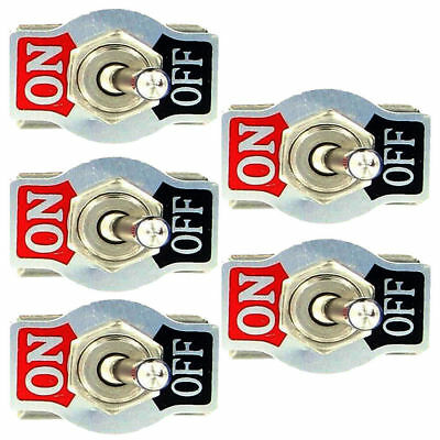 5 X Spst 2pin Heavy Duty 10a 125v Onoff Rocker Toggle Switch Waterproof Boot Us