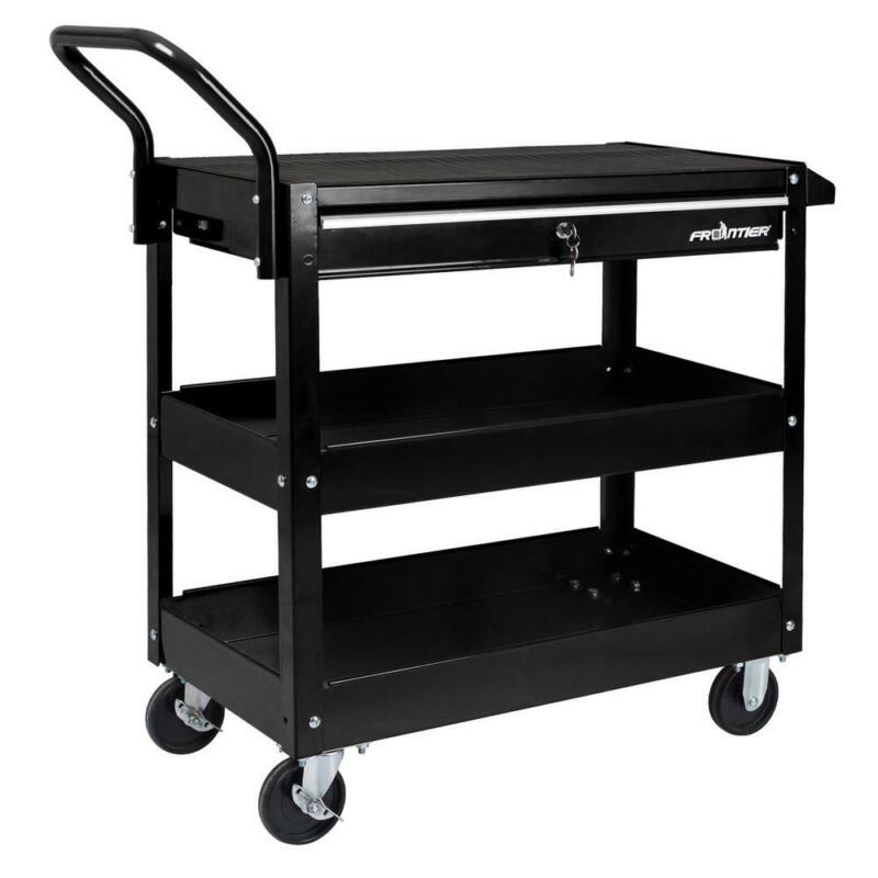 """Frontier 37"""" Utility Cart External Tool Holder Moveable 2Key"""
