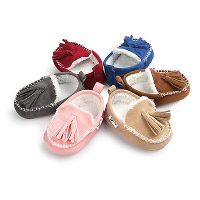 Cute Brown Infant Girls Moccasins Shoes Booties Boots Walking Shoes Clothes