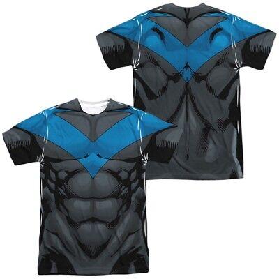 Authentic Batman Costume (Authentic Batman Nightwing Costume Uniform Outfit Allover Front Back T-shirt)