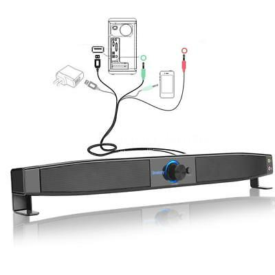 TV Speaker Home Theater Soundbar Sound Bar Subwoofer Speaker System USB AUX C1Z3