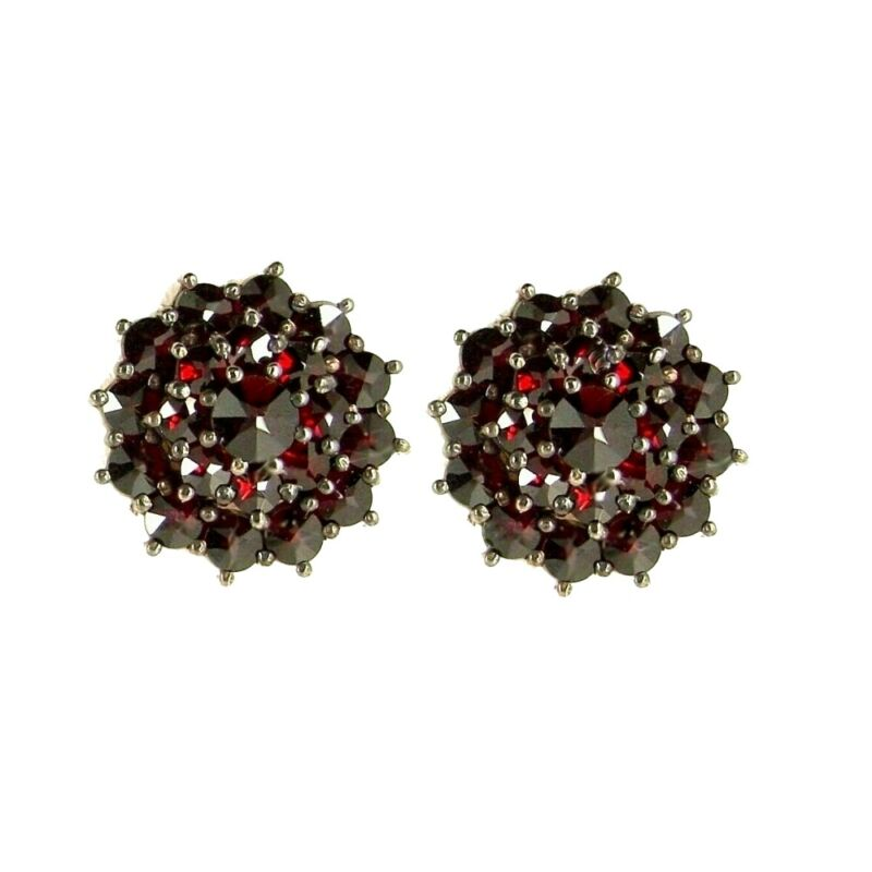 Magnificent Bohemian garnet earstuds with 14ct gold posts гранат  E019SKOL