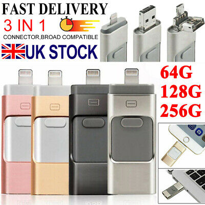 USB i Flash Drive Disk Storage Memory Stick For iPhone iPad PC IOS Android 256GB