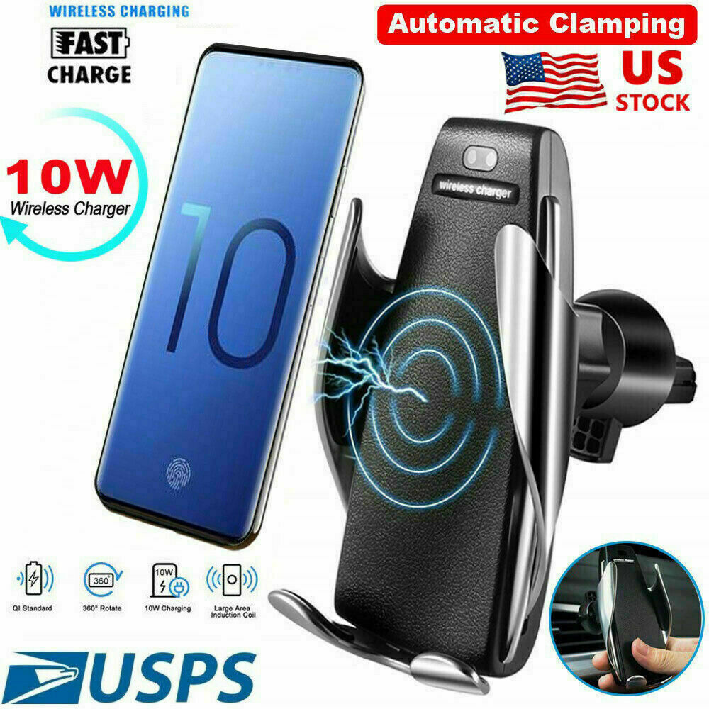 10W QI WIRELESS AUTOMATIC CAR CHARGING CHARGER MOUNT VENT PH