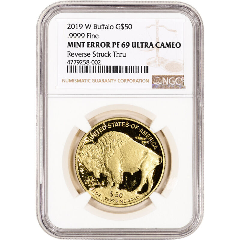 2019-W American Gold Buffalo Proof 1 oz $50 NGC Mint Error PF69 UCAM