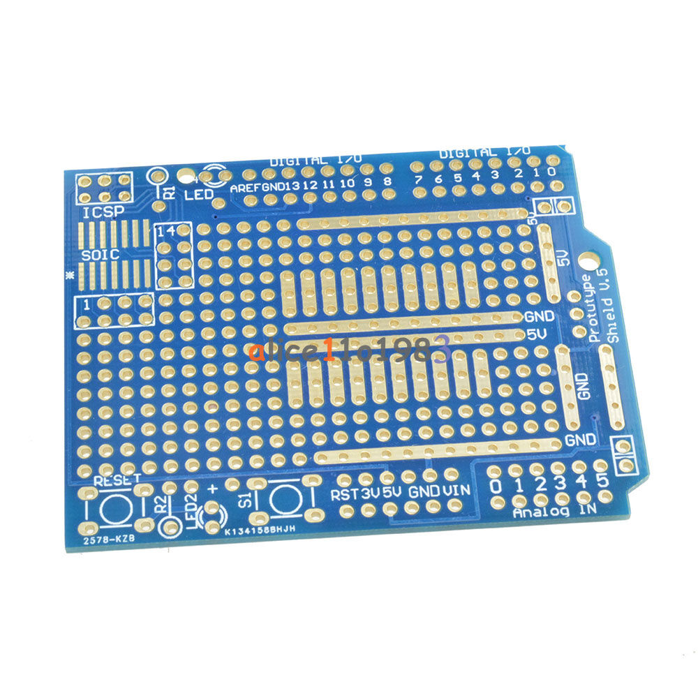 Prototype pcb for arduino uno r shield board fr fiber