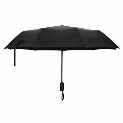 Folding Rain Umbrella Anti-UV Sunproof Parasol Sunshade Sunproof Automatic Open](Black Parasol)