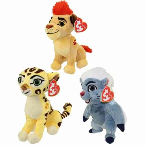 TY Beanie Babies SET of 3 (KION, BUNGA & FULI) Disney The Lion Guard Plush MWMTs