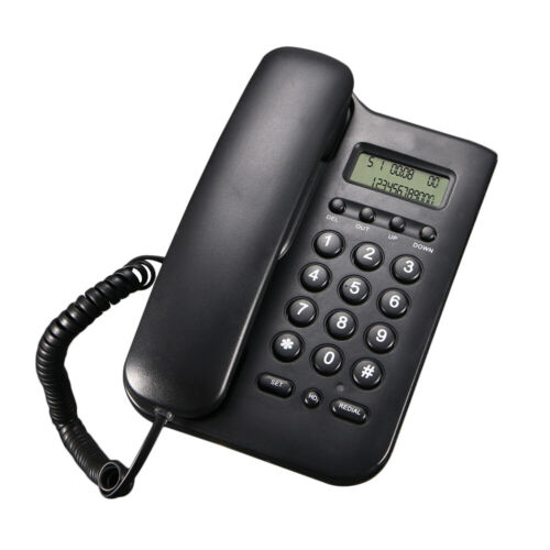 Wall Mount LCD Telephone Corded Office Landline Caller Phone
