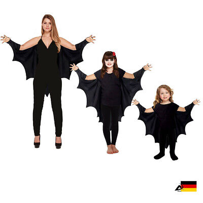 BAT CAPE FLEDERMAUSFLÜGEL Baby Kinder Erwachsene Halloween Fasching - Erwachsene Vampir Halloween Kostüme