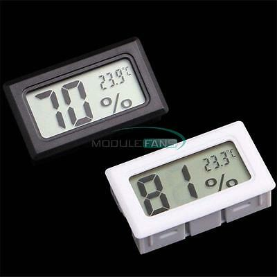 Lcd Thermometer Hygrometer Humidity Temperature Meter Indoor K Type Probe New