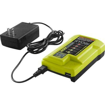 Ryobi 40-Volt 40v Li-Ion Replacement Spare Battery Charger w/ USB Port OP403 H44 ()