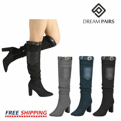 DREAM PAIRS Womens Ladies Thigh High Boots Over The Knee Par