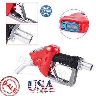 1 Inch Fuel Delivery Gun Gasoline Diesel Petrol Oil Nozzle Dispenser Flow Meter