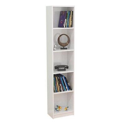 Hogar24 - Estanteria libreria 5 estantes 180 x 39 x 25 color blanco