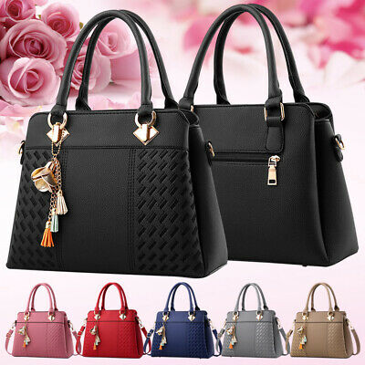 Chic Women Handbag Faux Leather Shoulder Satchel Belt Cross Body Bag Handbags