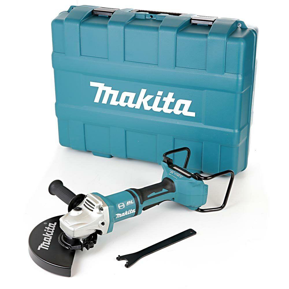 Makita DGA900ZJ 18 V Twin LXT Brushless 230 mm Meuleuse d/'angle avec étui de transport