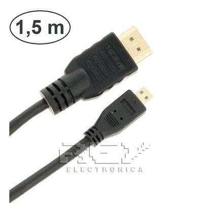 Cable HDMI 1.4 a MICRO HDMI con Ethernet, Resolución XHD, 3D de...
