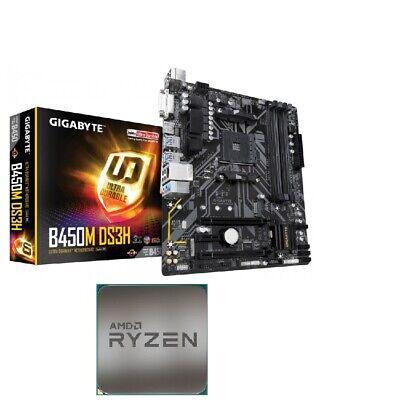 Bundle Mainboard Motherboard Gigabyte B450M DS3H CPU AMD Ryzen 5 2600 3.90 AM4