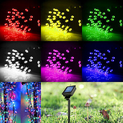 Solar Powered 60/100/200 LED String Fairy Lights Garden Outdoor Xmas Party Lamp ()