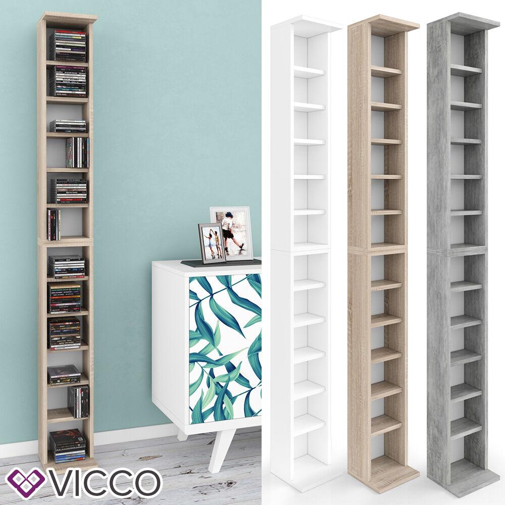 VICCO CD Regal Stand DVD Wandregal Hängeregal Bücherregal Büroregal Farbauswahl+ Kinderleichte Montage + Platz für bis zu 200 CD´s ++