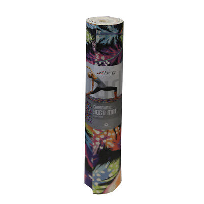 BCG 4mm Thick - Yoga Mat - 24x68 - Feather Chromatic Design
