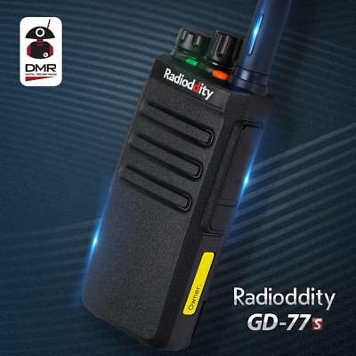Radioddity GD-77S PMR446 V/U Tier I II DMR Walkie Talkie Funkgerät+Programmkabel