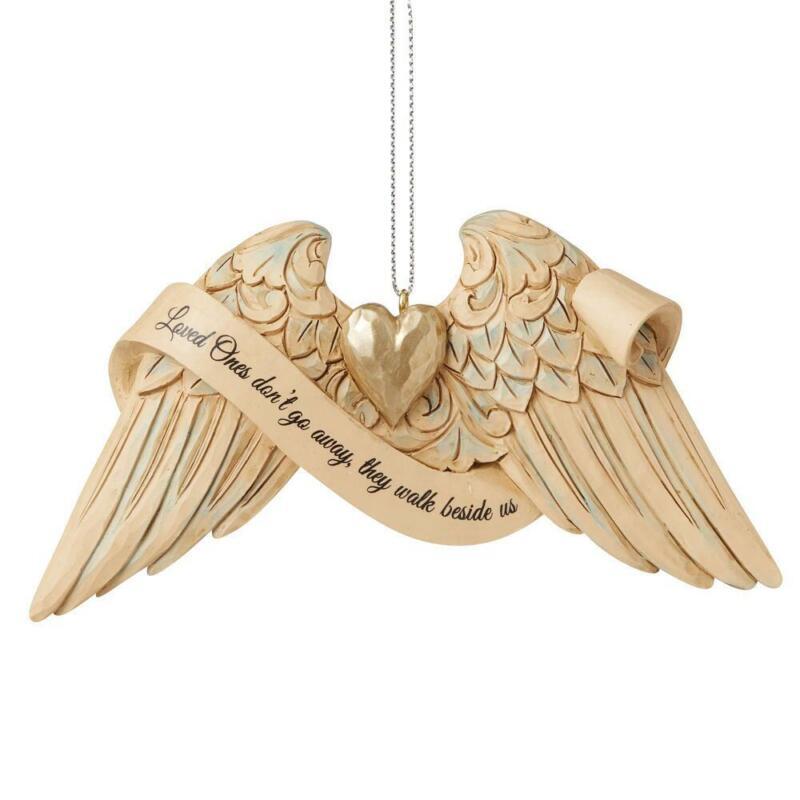 Jim Shore Heartwood Creek Bereavement Angel Wings Ornament 6009571