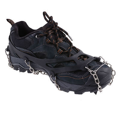 Ice Snow Shoes Spike Grip Boots Chain Crampons Grippers Anti Slip Ice Cleats L