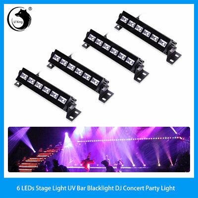 4PCS U`King UV Black Light 18W 6 LEDs Stage Light Party Christmas Birthday Light - Bulk Black Lights