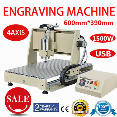 Cnc Router Engraver Milling Machine Engraving Drilling 4 Axis 6040 1500w Usb