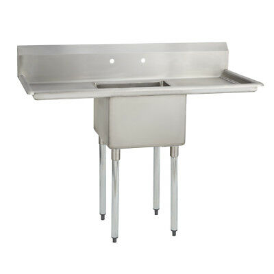 1 One Compartment Commercial Stainless Steel Prep Pot Sink 54 X 29.8 G