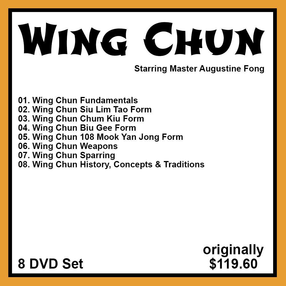 как выглядит Augustine Fongs Mastering Wing Chun Series 8 DVD Set фото