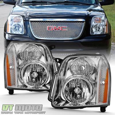 2007 2014 GMC Yukon Denali XL1500 2500 Headlights Headlamps LeftRight 07 14