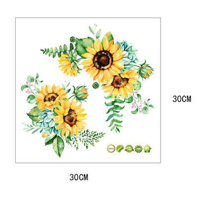 Home Decoration - Creative Sunflower  Bedroom Wall Home Decor Kitchen Self-Adhesive Wall Sticker