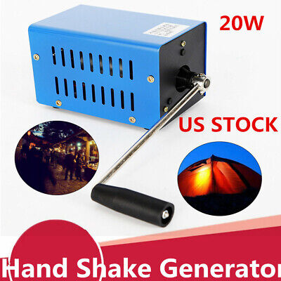 Portable High Power Dynamo Charger Emergency Hand Crank Usb Generator Us Newly