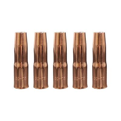 5-pk 22-50 12 Gas Nozzle 200 A For Tweco Mig Gun