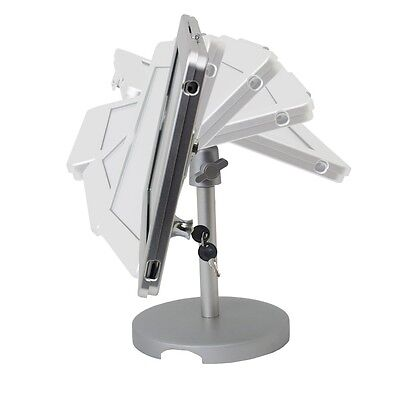 Locking Stand - iPad Tablet Stand POS Anti-theft Stand Enclosure w/Security Lock Kiosk Desktop
