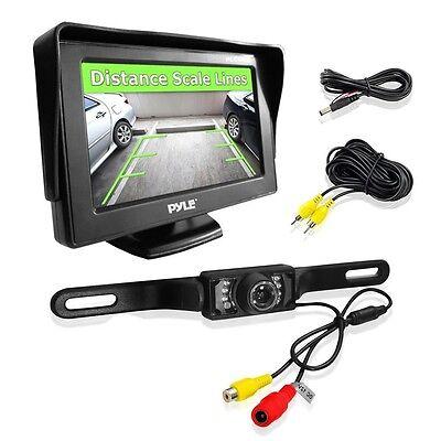 NEW Pyle PLCM46 4.3'' LCD Monitor w/ Backup Night Vision Camera System