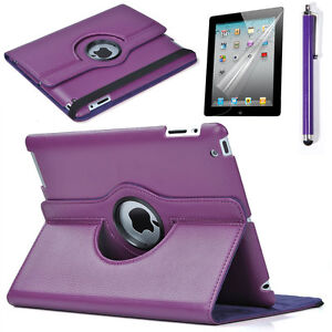 Purple-F-360-Rotate-the-New-iPad-4-generation-ipad3-2-Leather-Smart-Case-Cover