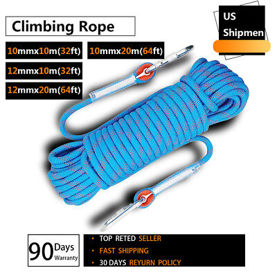 10mm 12mm High Strength Outdoor Safety Rock Climbing Rescue Rope For Climb Tree  10 Mm Climbing Rope