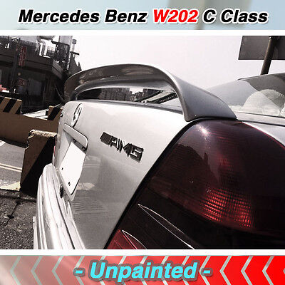 Used, Unpainted Mercedes W202 C Class sedan AMG STYLE Rear Trunk spoiler WING FRP for sale  Shipping to United States