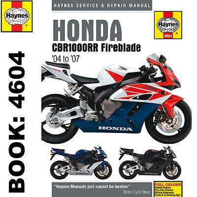Honda CBR1000RR Fireblade 2004-2007 Haynes Workshop Manual